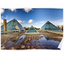 Pyramids Times Three Poster