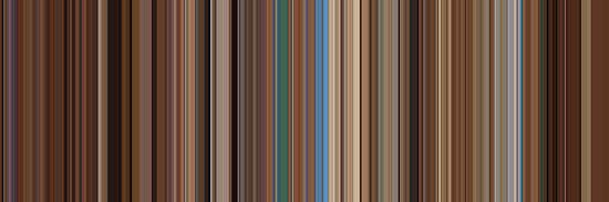 Moviebarcode: The Life Aquatic with Steve Zissou (2004) [Simplified Colors] by moviebarcode