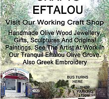 Eftalou Olive Wood Shop by Eric Kempson