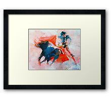 The clash of Power and Will Framed Print