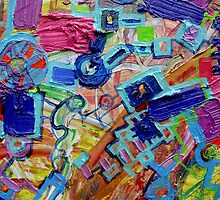 Excerpt 3 from Rube Goldberg Abstract by Regina Valluzzi