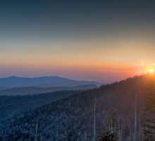 Sunset at Clingmans Dome by Bob Melgar