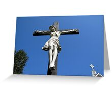 Statue of Jesus On The Cross Greeting Card