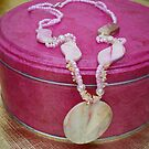Handmade.  Pink and shell gemstone jewellery - vey girly! by anaisnais