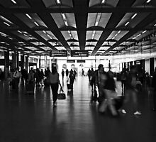 Commute, St Pancras International Station, London by Chris Hageman