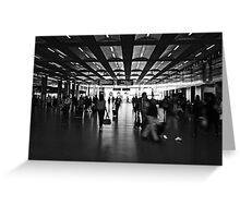 Commute, St Pancras International Station, London Greeting Card