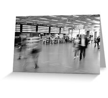 Departures, St Pancras International Station, London Greeting Card