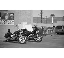 Route 66 - Grants, New Mexico Motorcycles Photographic Print