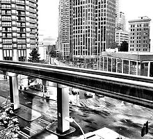 Dowtown Seattle - From The Westlake Mall Food Court by Arelle Hall