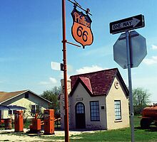 Route 66 - Phillips 66 Gas Station by Frank Romeo