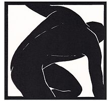 Black & white male figure by Edmund Hodges