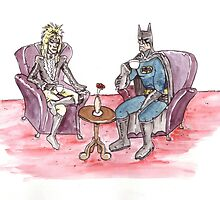 Bowie & Batman by Damien Mason