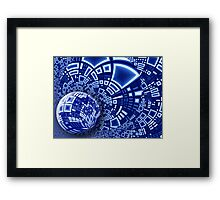 Interstellar City Framed Print