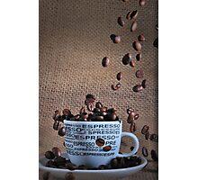 Coffee beans rain Photographic Print