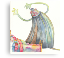 """The monster, illustration of the story """"backpack""""  Metal Print"""