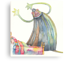 """The monster, illustration of the story """"backpack""""  Canvas Print"""