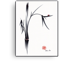 """Gentle Soul"" Chinese japanese ink brush pen painting Canvas Print"