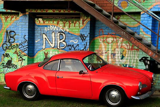 Red Karmann Ghia by Noel Elliot