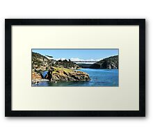 The Bridge and the Rock II Framed Print