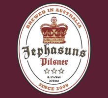 The Jephasuns Pilsner Label T-Shirt by thejephasuns