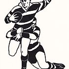 Rugby Tackle by Edmund Hodges