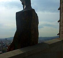 Jesus Looking Over Barcelona by Matt Scott