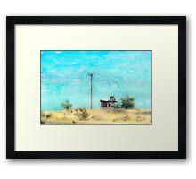California Shack Framed Print