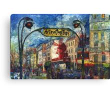 Paris Moulen Rouge Canvas Print
