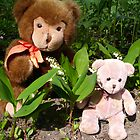 Mr.Teddy & Lilly of the valley by Heidi Mooney-Hill