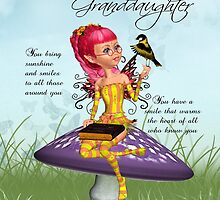 Granddaughter Birthday Card With Fairy by Moonlake