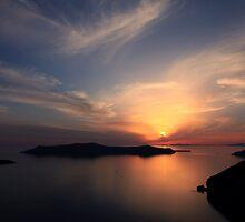 Santorini Drama - Thira, Santorini by Ben Prewett