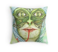 The Snake King Throw Pillow