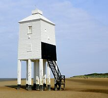 A White Timber Lighthouse on Legs by hootonles