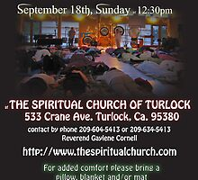 turlock spritual church flier by GongThePlanet