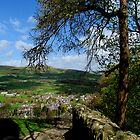 Castleton from Peveril Castle by Audrey Clarke