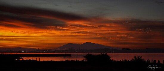 Sun Rise Over Mount Diablo by hornersfire