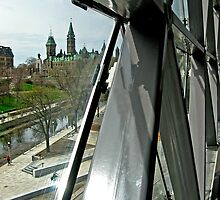 Parliament Hill From the New Congress Center - Ottawa by Debbie Pinard