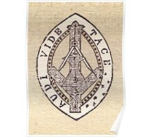 Masonic Vesica Piscis symbol Poster