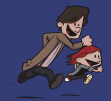 Amy & Doc (Dr Who / Calvin & Hobbes) by James Hance
