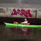 Kayak with Graffiti by andytechie