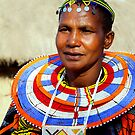 Maasai (or Masai) Woman, East Africa  by Carole-Anne