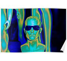 Blue Sunglasses Poster