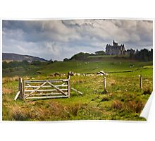 Glengorm castle on a brooding May day Poster