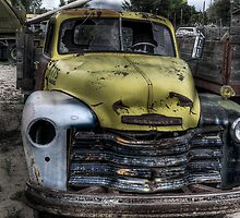 Yellow Chevy Truck by flyingdogNM