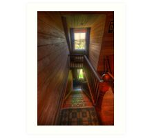 Upstairs , Downstairs - Craigmoor House c1875 - Hill End , NSW Art Print