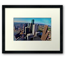 Downtown Houston Texas Framed Print