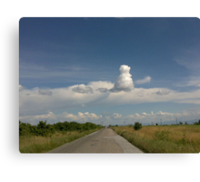 Strange cloud Canvas Print