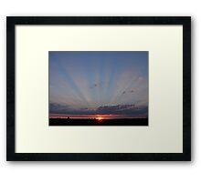Sunset over Southampton, UK Framed Print