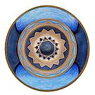 Mandala Art - Calm Peaceful Blues by danita clark