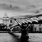 Thames Panorama in Monotone by Peter Tachauer